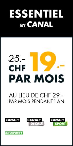 essentiel by canal. premier league. promo 19.-