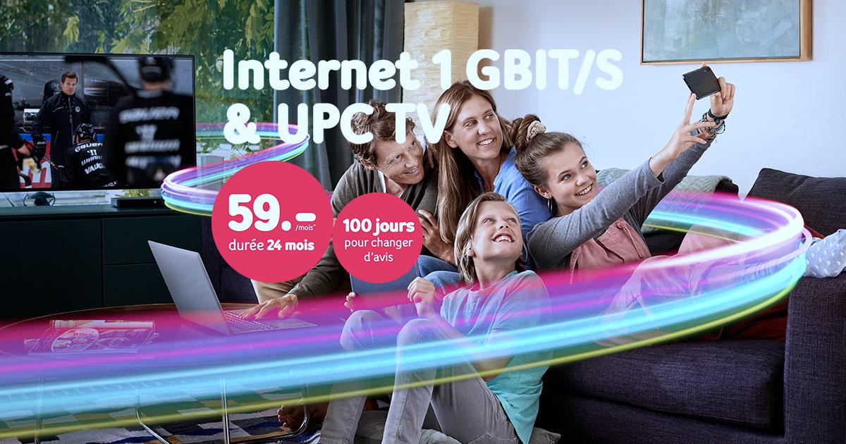 NOUVEAU : Internet 1 Giga & UPC TV