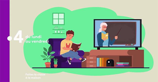 Ecole à la maison : France4 met en place une programmation éducative !